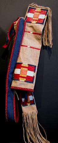 Quilled Quiver and Bow Case from Blackfeet Heritage Center