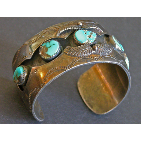 1970's Shadow Box Cuff Bracelet