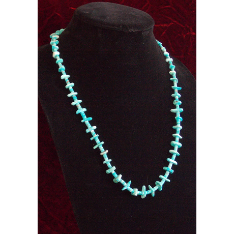 Single Strand of Natural Hand-rolled Turquoise and Tabs