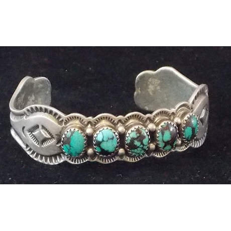 Hubei Turquoise Set in Satin Polished Sterling