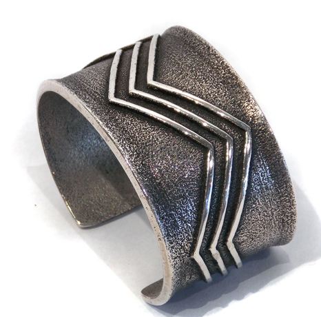 Tufa Cast Cuff with Water Design