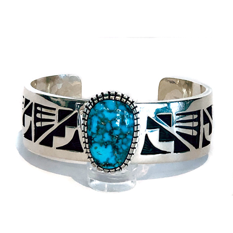 Ithaca Peak Turquoise on a Fabulous Overlay Cuff