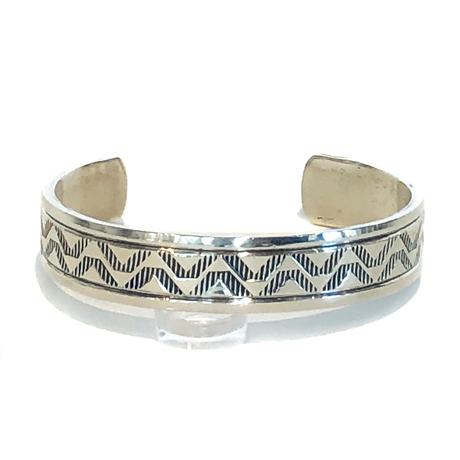 Heavyweight Sterling Stamped Cuff