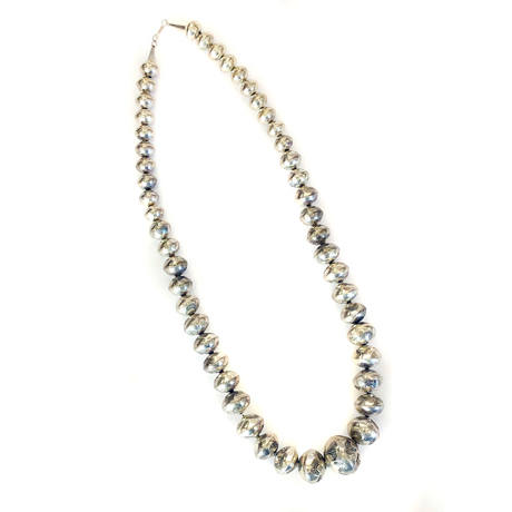 Long Strand of Sterling Beads (Navajo Pearls)
