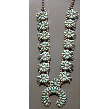 1950s - 1960s Squash Blossom Necklace