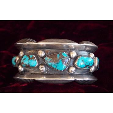 1950s Cuff with High Grade Turquoise