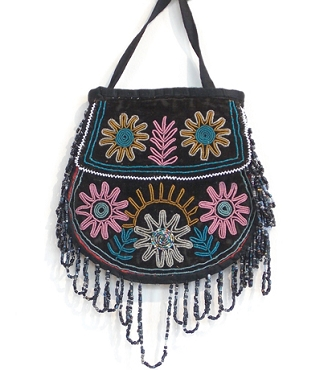 Iroquoise or Micmak Beaded Bag Circa 1840 - 1850