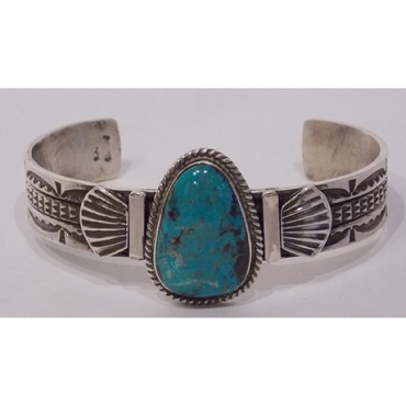 Beautiful Turquoise and Sterling Cuff