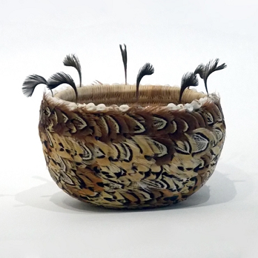 Small Fully Feathered Pomo Bowl