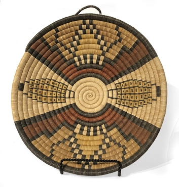 Hopi Coil Plaque Depicting Corn