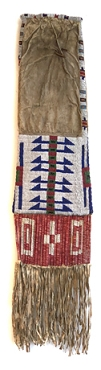 Sioux Beaded and Quilled Pipe Bag
