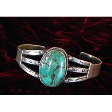 Gorgeous Turquoise in this Older Cuff