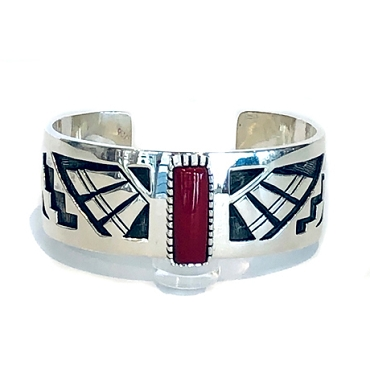 Beautiful Overlay Cuff with Dramatic Roserita