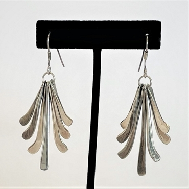 Vintage Mexcan Sterling Silver Multi-Dangle Earrings