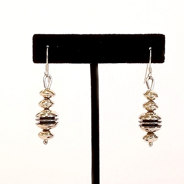 Sterling Multi-bead Dangle Earrings